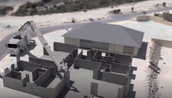 (Видео) Робот-каменщик за 3 дня построил дом площадью 180 кв.м. И никто ему не помогал