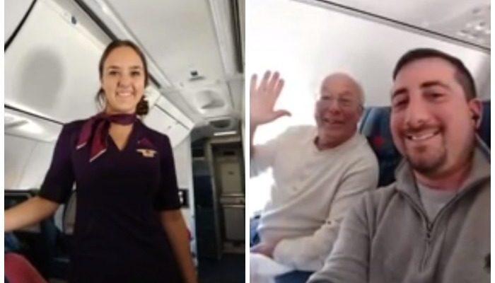 Стюардессе пришлось работать в Рождество. Но папа хотел провести время с дочкой, поэтому купил билеты на 6 её рейсов