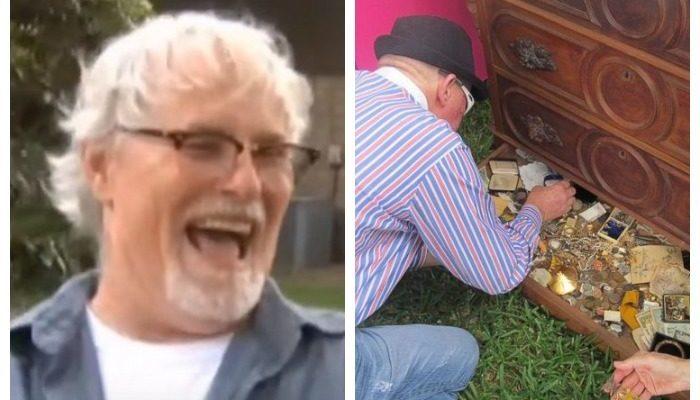 Бывший военный купил за 100$ комод 125-летней давности и нашёл в нём спрятанные драгоценности. Мужчина, не сомневаясь ни минуты, вернул их владельцу!