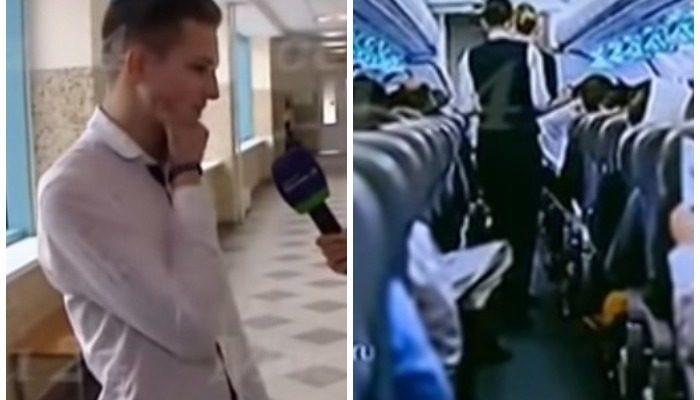 16-летний школьник спас мужчину, потерявшего сознание во время полёта