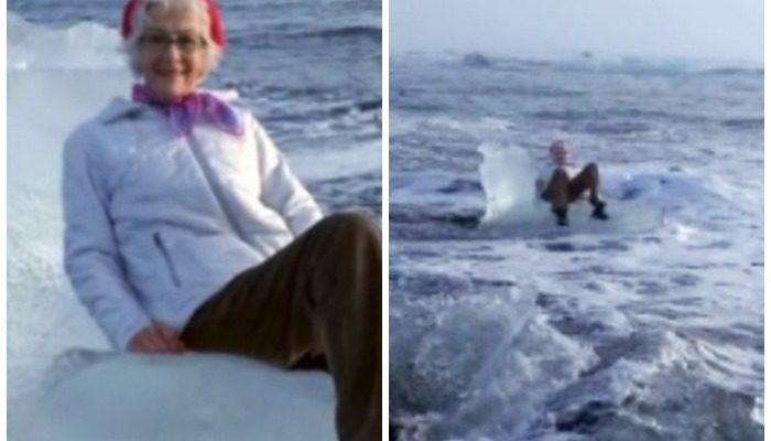 Бабушку понесло на льдине в море, когда она решила на ней сфотографироваться