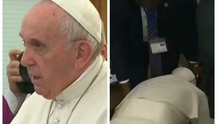 (Видео) Папа Римский поцеловал ноги лидерам Южного Судана, призывая их поддерживать мир в стране