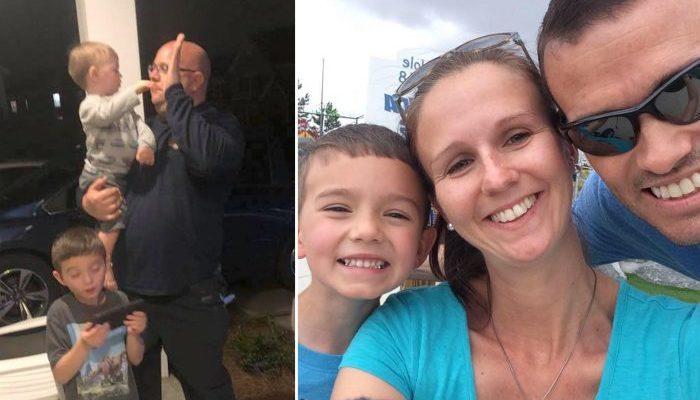 Оба родителя двух малышей одновременно попали в больницу. Посидеть с детьми вызвались пожарные!