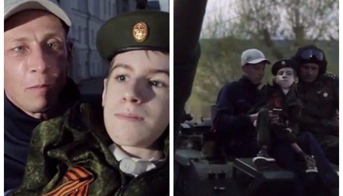 Военные Екатеринбурга исполнили мечту тяжелобольного подростка: прокатили на танке!