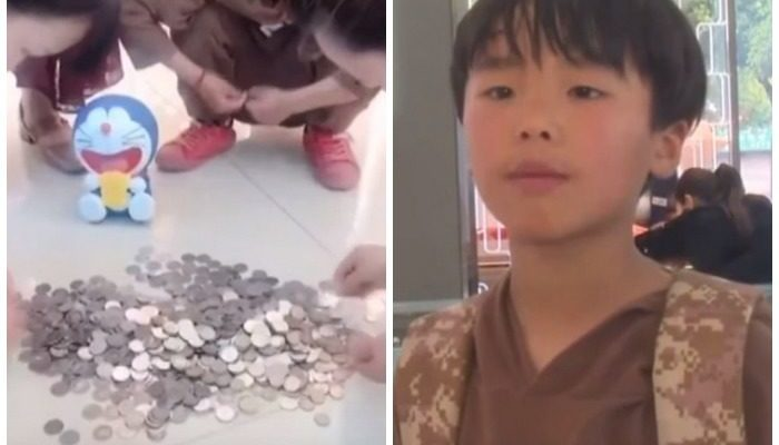 (Видео) 9-летний мальчик расплатился за кольцо для мамы сотнями монет, которые собирал 2 года. Копилки разбили прямо в магазине!