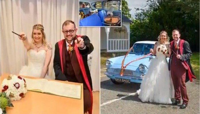 Фанаты «Гарри Поттера» сыграли «магическую» свадьбу, а брачные клятвы скрепили взмахом «волшебных» палочек
