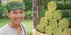 Подросток делает соломинки из дикой травы, чтобы решить проблему ужасающего пластикового загрязнения планеты