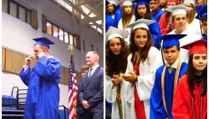 Выпускники школы встретили вручение диплома однокласснику тишиной. И он был им очень благодарен!