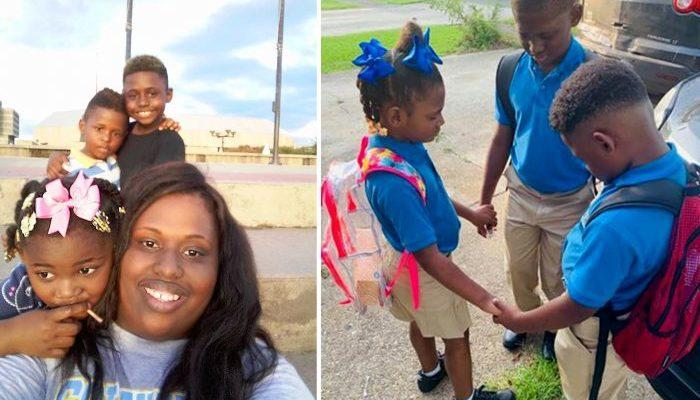 Семья потеряла дом, но в первый школьный день эти дети молились не о себе