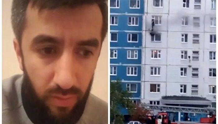 (Видео) Увидел пожар и бросился на помощь. Пока он тянул девушку из окна 5-го этажа на 6-ой, она несколько раз теряла сознание