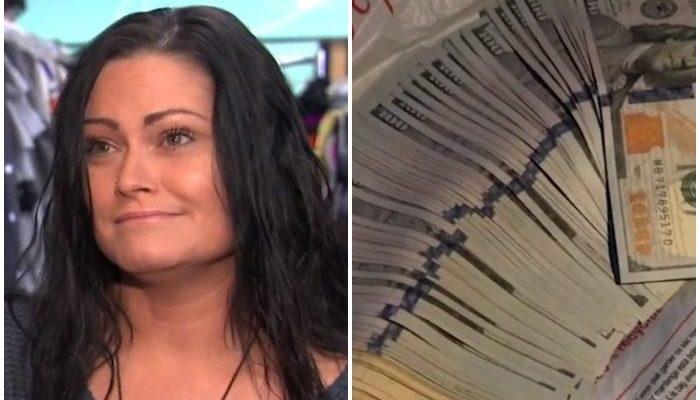 Работница секонд-хенда нашла в одежде пачку долларов и решила поступить честно