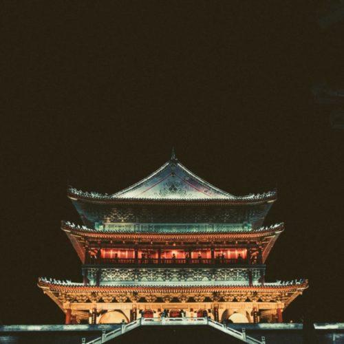 Пагода, Храм ночью
