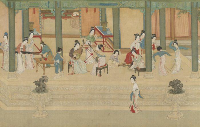 Придворные дамы музицируют. «Весеннее утро во дворце Хань», Цю Ин
