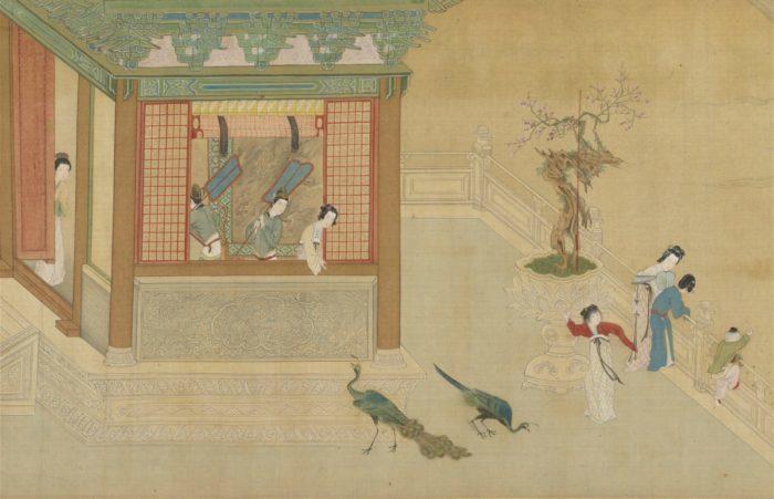 свиток «Весеннее утро во дворце Хань», Цю Ин