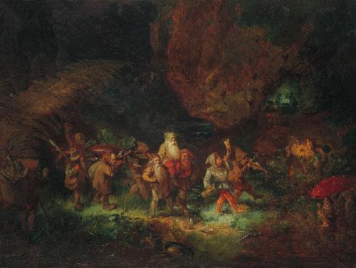 Мено Мюлиг «Охотничье шествие гномов»