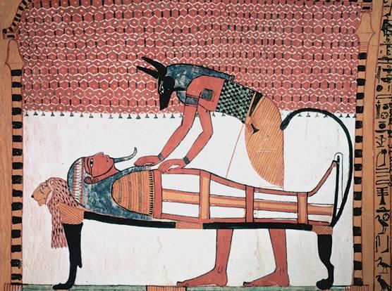 Анубис — древнеегипетский бог смерти с головой собаки