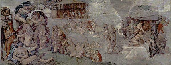 «Потоп», Микеланджело, фрагмент росписи Сикстинской капеллы