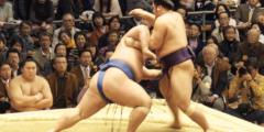 (Видео) Ролик поединка сумоистов впечатлил не только поклонников спорта. Ведь это настоящий триуфм для маленьких и скромных!