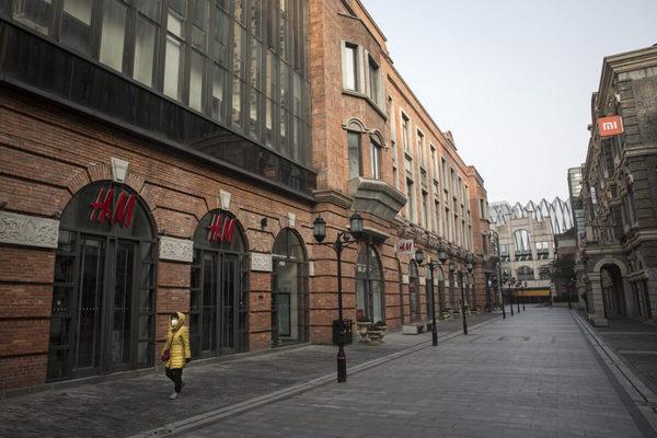 Уханьский коронавирус. Пустая улица в Ухане