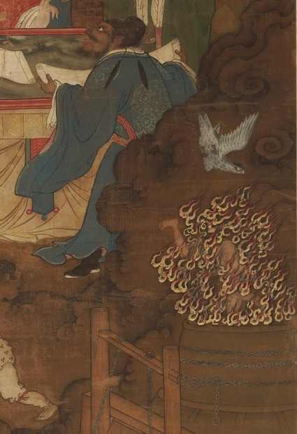 Фрагмент картины «Десять царей (ванов) ада», написанной в династию Мин