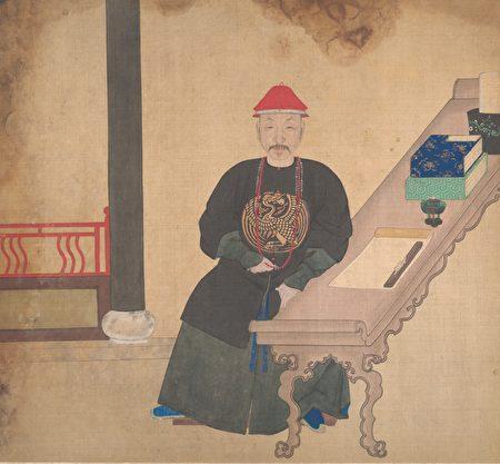 Неизвестный художник династии Цин портрет чиновника