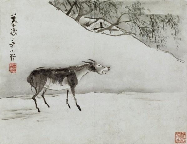 «Осёл», картина Гао Ципэй, династия Цин