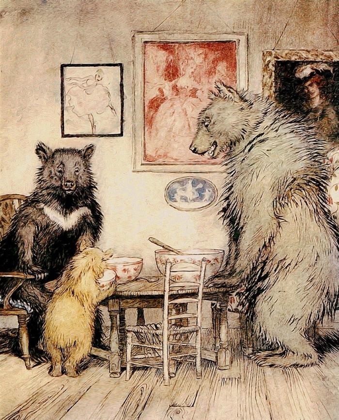 иллюстрация к сказке «Три медведя»