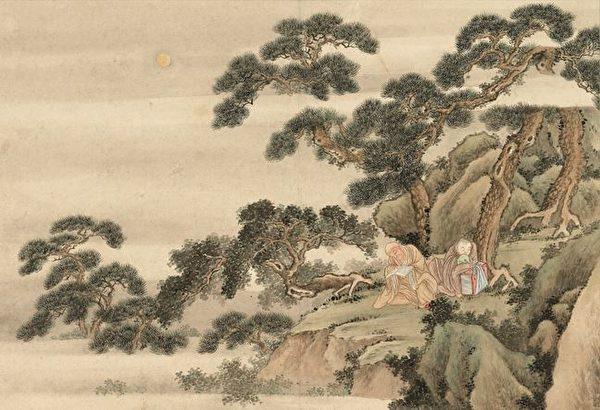 буддийские монахи, китайский рисунок