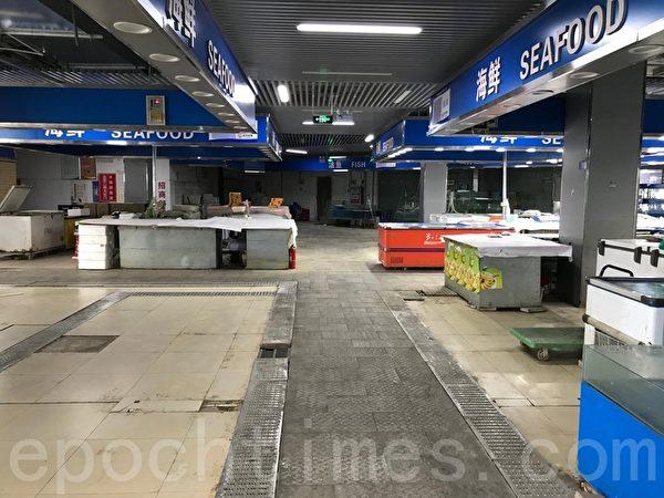Отделы морепродуктов на первом этаже рынка «Лиюань» не работают