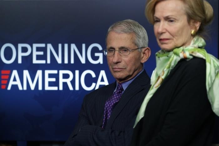 Энтони Фаучи, директор Национального института аллергии и инфекционных заболеваний, и Дебора Брикс, координатор реагирования на коронавирус Белого дома