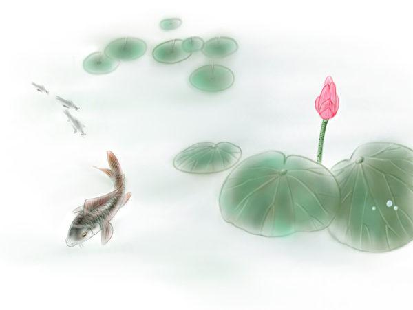 Рыба в пруду