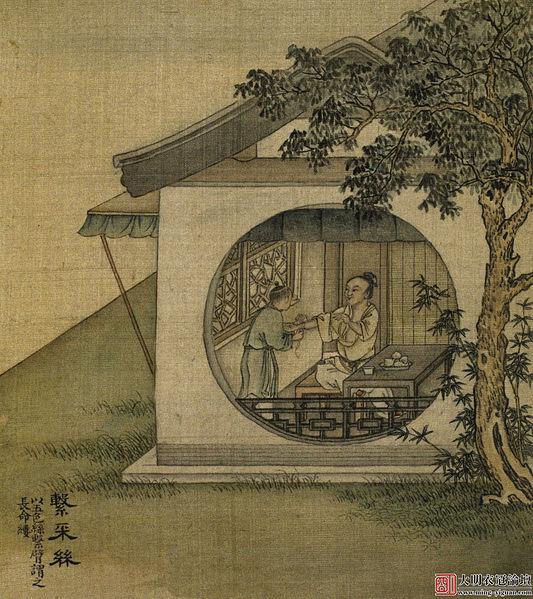 Фестивальная традиция Дуань-у — «пять цветных шелковых нитей», символизирующих Пять Элементов, художник Сюй Ян