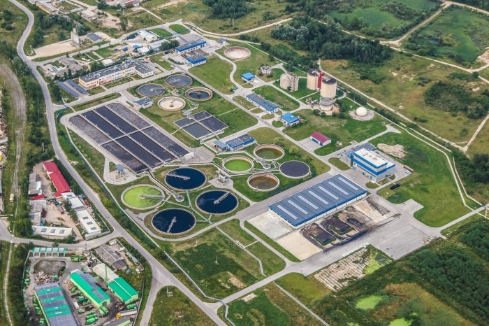 Станция очистки сточных вод.