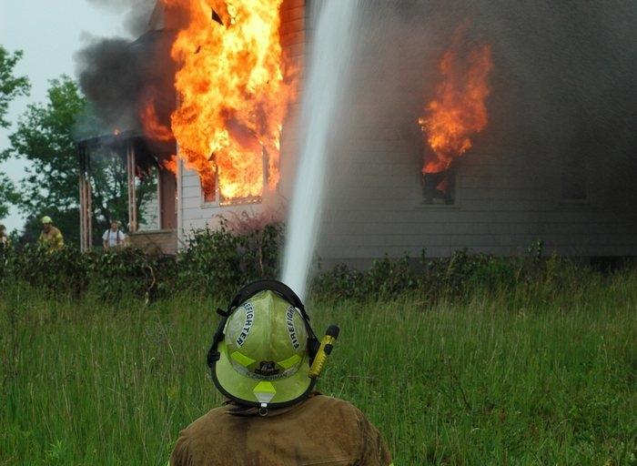 Мужчина спас собаку из чужого горящего дома, но о кошке не знал. Ей пришлось заботиться о себе самой!