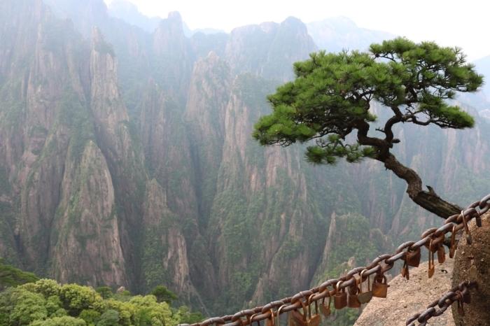 Вид на горы в Китае.