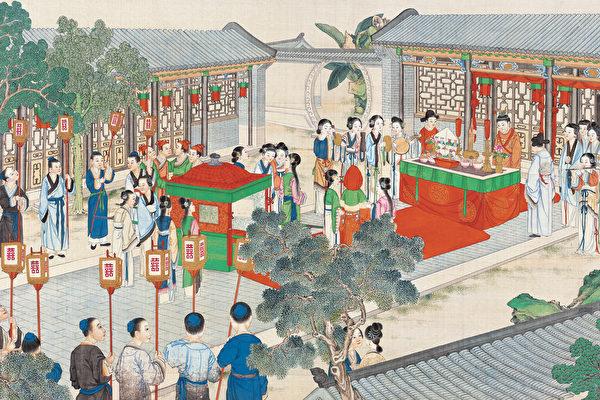 Иллюстрация к роману «Сон в красном тереме», Сунь Вэнь, династия Цин