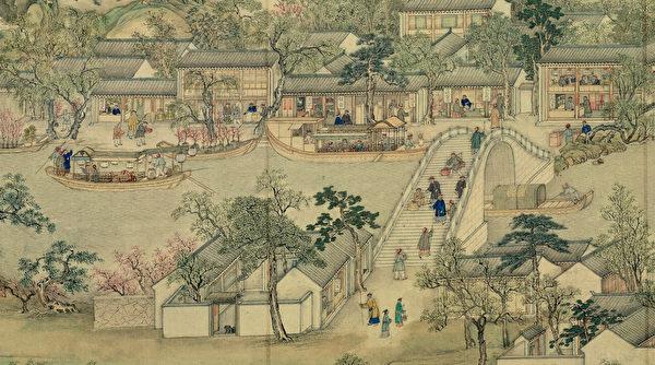 Фрагмент картины «Процветающий Гусу», Сюй Янхуэй, династия Цин
