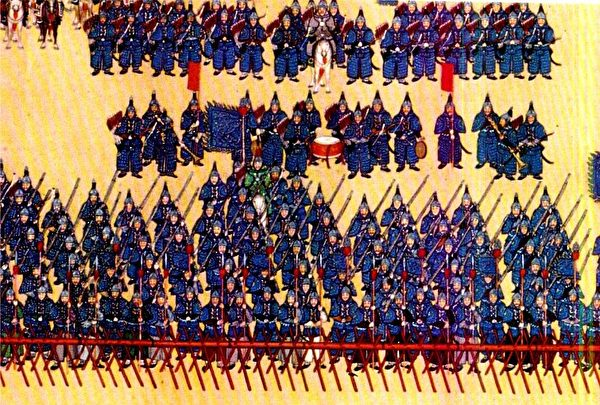 Корпус синего знамени, одного из восьми корпусов знамённых войск династии Цин
