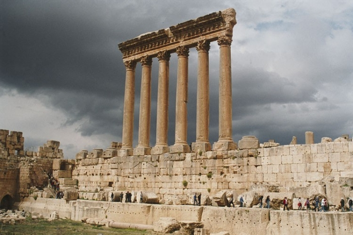 Баальбек. Колонны храма Юпитера