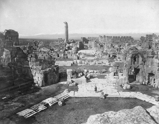 Баальбек. Руины в конце 19 века