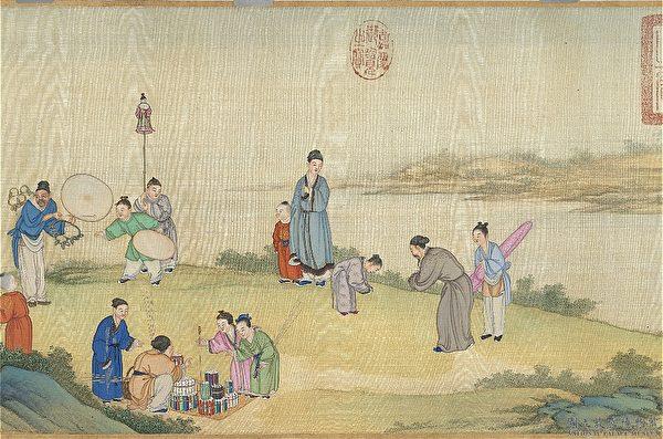 «Безмятежный город в весеннюю пору», Дин Гуаньпэн, династия Цин