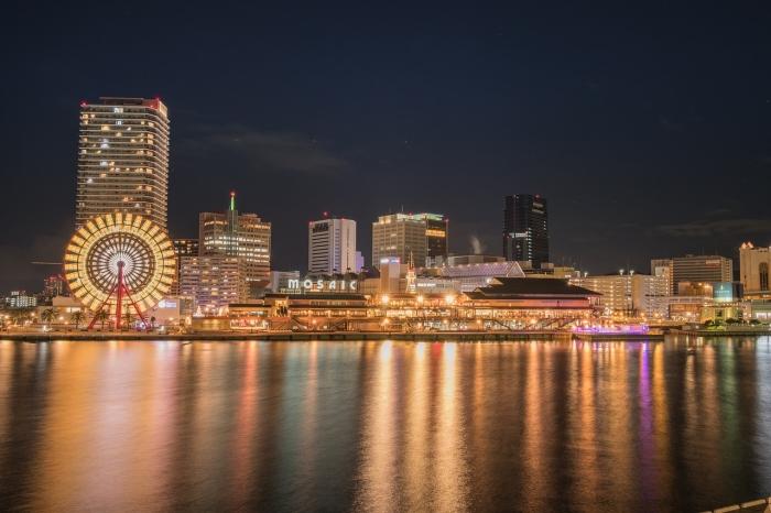 Ночной город Кобе, Япония