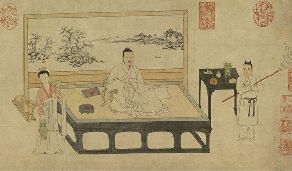 «Портрет художника и поэта Ни Цзаня», Чжан Юйти, династия Юань