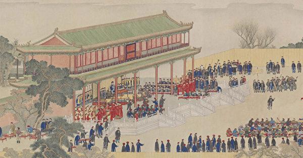 Фрагмент картины «Банкет в павильоне Цзыгуан», Яо Вэньхань, династия Цин
