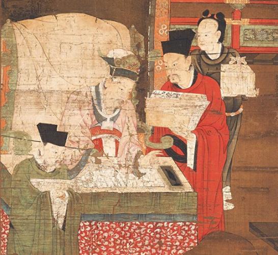 Пятый из «Десяти владык ада», Лу Синьчжун, династии Южная