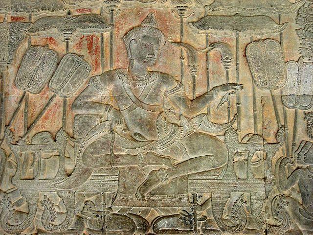 Изображение Сурьявармана II в Ангкор-Вате