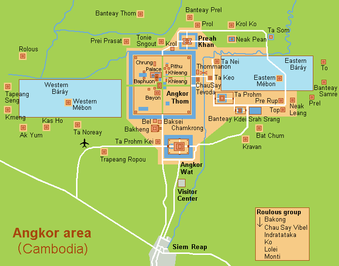 план-карта Ангкора