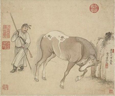 «Изображение лошади», Лэн Мэй, династия Цин