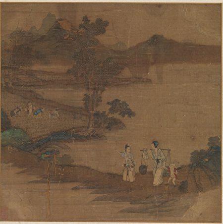 «Картина сельской идиллии», Цю Ин, династия Мин