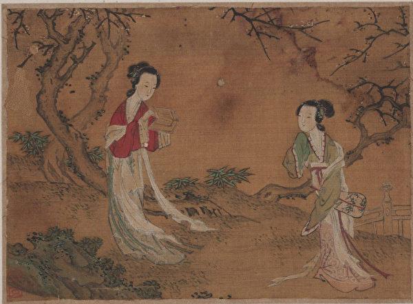 Картина придворных красавиц, династия Мин